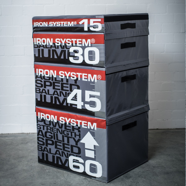 IRON SYSTEM® Sprungbox Hartschaum, Set 2, 30/45/60 cm