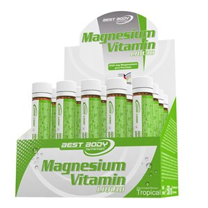 Best Body - Magnesium Vitamin Ampullen - 20 Ampullen à 25 ml - Tropical