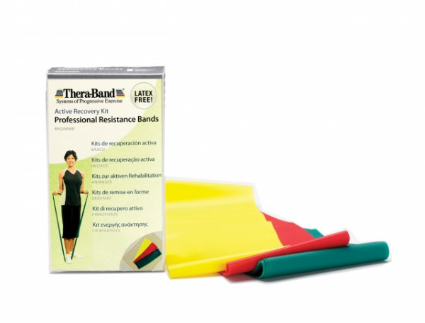 Thera-Band® Latexfreie Übungsbander 1,50 m im Set