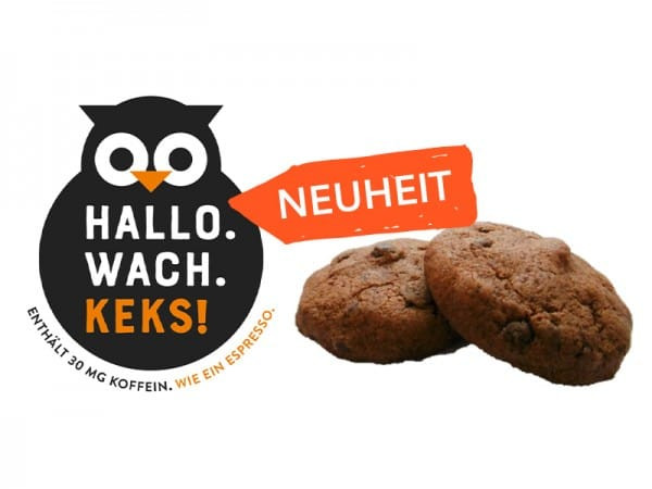 """Hallo. Wach. Keks."" Chocolate Chip Cookie mit 30mg Koffein (40Stück = 1VE)"